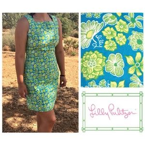 Vintage Lilly Pulitzer tropical flower shift dress